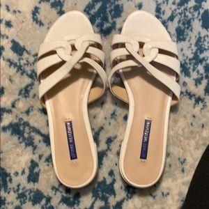 Stuart Weitzman White sandals